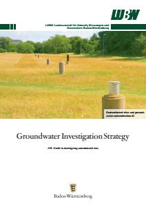 Bild der Titelseite der Publikation: Groundwater Investigation Strategy