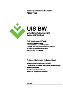Bild der Titelseite der Publikation: Gesamtbericht KEWA Phase IV - Kooperative Entwicklung wirtschaftlicher Anwendungen für Umwelt, Verkehr und benachbarte Bereiche in neuen Verwaltungsstrukturen
