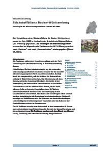 Bild der Titelseite der Publikation: Stickstoffbilanz Baden-Württemberg - Einstieg in die Bilanzierungsarbeit