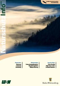 Bild der Titelseite der Publikation: Naturschutz-Info 2016 Heft 1