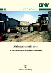 Bild der Titelseite der Publikation: Altlastenstatistik 2015
