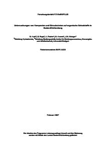 Bild der Titelseite der Publikation: Untersuchungen von Komposten und Gärsubstraten auf organische Schadstoffe in Baden-Württemberg