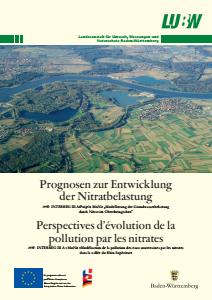 Bild der Titelseite der Publikation: MoNit: Prognosen zur Entwicklung der Nitratbelastung