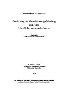 Bild der Titelseite der Publikation: Ermittlung der Grundwassergefährdung mit Hilfe künstlicher neuronaler Netze