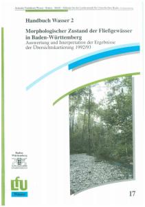 Bild der Titelseite der Publikation: Morphologischer Zustand der Fließgewässer in Baden-Württemberg