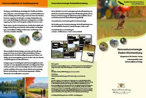 Bild der Titelseite der Publikation: Naturschutzstrategie Baden-Württemberg - Faltblatt