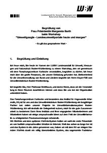 Bild der Titelseite der Publikation: Workshop Umweltgoogle - Landesumweltportale heute und morgen