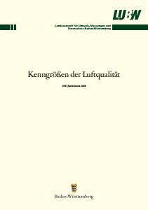 Bild der Titelseite der Publikation: Kenngrößen der Luftqualität. Jahresdaten 2010