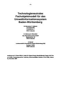 Bild der Titelseite der Publikation: Umwelt-Fachobjektmodell (UFO)