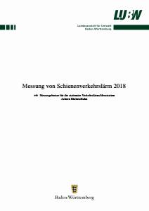Bild der Titelseite der Publikation: Messung von Schienenverkehrslärm 2018