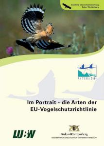 Bild der Titelseite der Publikation: Im Portrait - die Arten der EU-Vogelschutzrichtlinie