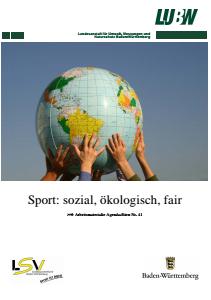 Bild der Titelseite der Publikation: Arbeitsmaterialie 041: Sport: sozial, ökologisch, fair