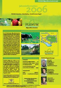 Bild der Titelseite der Publikation: Jahresinformation PLENUM Allgäu-Oberschwaben 2006