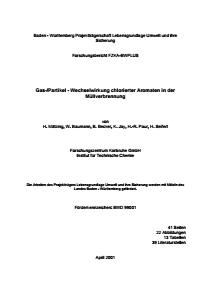 Bild der Titelseite der Publikation: Gas-/Partikel - Wechselwirkung chlorierter Aromaten in der Müllverbrennung