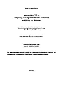 Bild der Titelseite der Publikation: geomatrix.bw, Teil 1: Ganzjährige Nutzung von Geothermie zum Heizen und Kühlen von Gebäuden