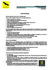 Bild der Titelseite der Publikation: Heckenpflege