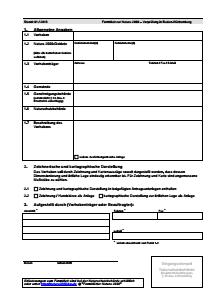 Bild der Titelseite der Publikation: Formblatt zur Natura 2000-Vorprüfung in Baden-Württemberg