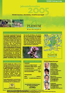 Bild der Titelseite der Publikation: Jahresinformation PLENUM Heckengäu 2005