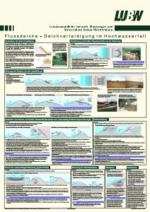 Bild der Titelseite der Publikation: Flussdeiche - Deichverteidigung im Hochwasserfall