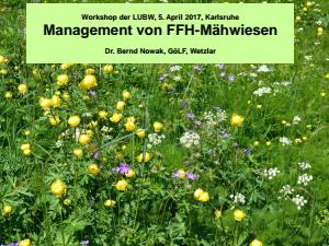 Bild der Titelseite der Publikation: Management von FFH-Mähwiesen