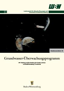 Bild der Titelseite der Publikation: Grundwasserüberwachungsprogramm. Grundwasserfauna in Baden-Württemberg - Kurzbericht