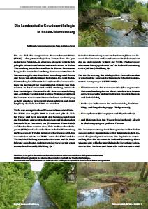 Bild der Titelseite der Publikation: Die Landesstudie Gewässerökologie in Baden-Württemberg