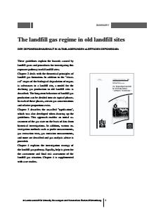 Bild der Titelseite der Publikation: The landfill gas regime in old landfill sites