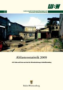 Bild der Titelseite der Publikation: Altlastenstatistik 2009
