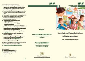 Bild der Titelseite der Publikation: Sicherheit und Gesundheitsschutz in Kindertagesstätten