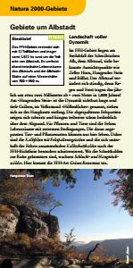 Bild der Titelseite der Publikation: Natura 2000 gemeinsam umsetzen - Gebiete um Albstadt
