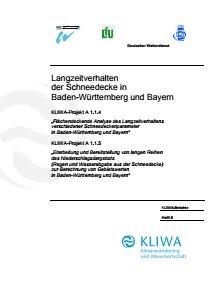 Bild der Titelseite der Publikation: Langzeitverhalten der Schneedecke in Baden-Württemberg und Bayern
