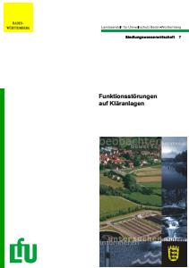 Bild der Titelseite der Publikation: Funktionsstörungen auf Kläranlagen