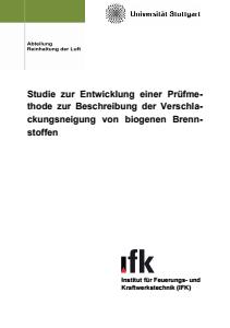 Bild der Titelseite der Publikation: Studie zur Entwicklung einer Prüfmethode zur Beschreibung der Verschlackungsneigung von biogenen Brennstoffen