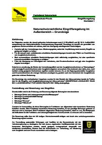 Bild der Titelseite der Publikation: Naturschutzrechtliche Eingriffsregelung im Außenbereich - Grundzüge