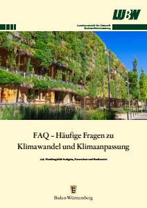 Bild der Titelseite der Publikation: FAQ - Häufige Fragen zu Klimawandel und Klimaanpassung