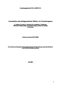 Bild der Titelseite der Publikation: Genomische und nichtgenomische Effekte von Xenoöstrogenen