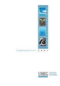 Bild der Titelseite der Publikation: Jahresbericht 2003 der UMEG - Zentrum für Umweltmessungen, Umwelterhebungen und Gerätesicherheit