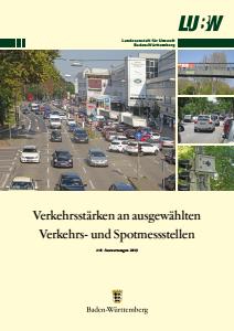 Bild der Titelseite der Publikation: Verkehrsstärken an ausgewählten Verkehrs- und Spotmessstellen