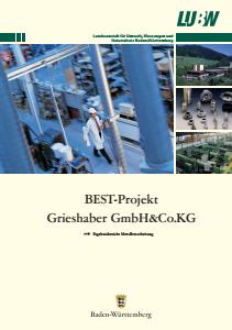 Bild der Titelseite der Publikation: BEST-Projekt Grieshaber GmbH & Co.KG