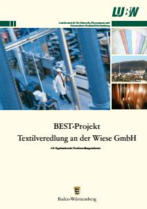 Bild der Titelseite der Publikation: BEST-Projekt Textilveredelung an der Wiese GmbH