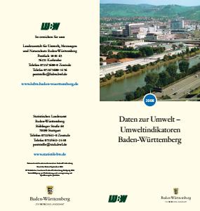 Bild der Titelseite der Publikation: Daten zur Umwelt - Umweltindikatoren Baden-Württemberg 2008