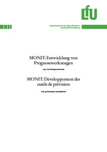 Bild der Titelseite der Publikation: MoNit: Entwicklung von Prognosewerkzeugen