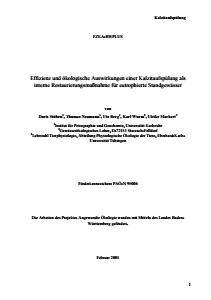 Bild der Titelseite der Publikation: Effizienz und ökologische Auswirkungen einer Kalzitaufspülung als interne Restaurierungsmaßnahme für eutrophierte Standgewässer