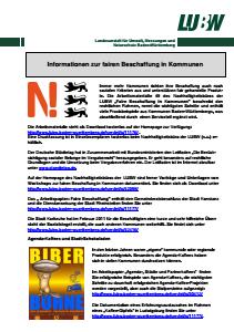 Bild der Titelseite der Publikation: Informationsblatt 006 zur fairen Beschaffung in Kommunen