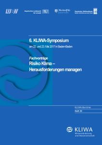 Bild der Titelseite der Publikation: Risiko Klima - Herausforderungen managen