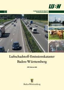 Bild der Titelseite der Publikation: Luftschadstoff-Emissionskataster Baden-Württemberg