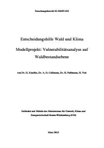 Bild der Titelseite der Publikation: Vulnerabilitätsanalyse auf Waldbestandsebene