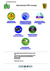 Bild der Titelseite der Publikation: Jahresbericht 1995 der Landesanstalt für Umweltschutz Baden-Württemberg