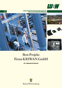Bild der Titelseite der Publikation: BEST-Projekt KRIWAN Industrie-Elektronik GmbH