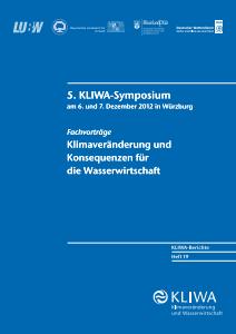 Bild der Titelseite der Publikation: Klimaveränderungen und Konsequenzen für die Wasserwirtschaft